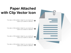 Paper Attached With Clip Vector Icon Ppt PowerPoint Presentation Infographics Objects PDF