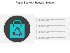 Paper Bag With Recycle Symbol Ppt Powerpoint Presentation Ideas Example Topics