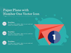 Paper Plane With Number One Vector Icon Ppt PowerPoint Presentation Ideas Gridlines PDF