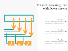 Parallel Processing Icon With Down Arrows Ppt PowerPoint Presentation Show Diagrams PDF