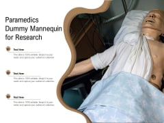 Paramedics Dummy Mannequin For Research Ppt PowerPoint Presentation Gallery Graphics Design PDF