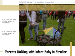 Parents Walking With Infant Baby In Stroller Ppt PowerPoint Presentation Gallery Background Image PDF