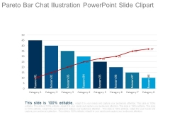 Pareto Bar Chat Illustration Powerpoint Slide Clipart