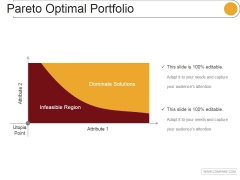 Pareto Optimal Portfolio Ppt PowerPoint Presentation Design Ideas