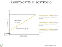 Pareto Optimal Portfolio Ppt PowerPoint Presentation Influencers