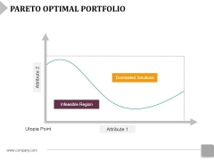 Pareto Optimal Portfolio Ppt PowerPoint Presentation Pictures Background