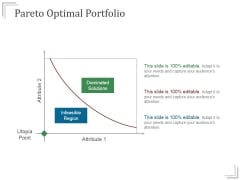 Pareto Optimal Portfolio Ppt PowerPoint Presentation Sample