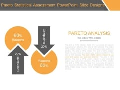 Pareto Statistical Assessment Powerpoint Slide Designs
