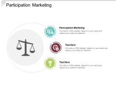Participation Marketing Ppt PowerPoint Presentation Infographics Brochure Cpb