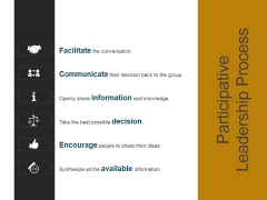 Participative Leadership Process Ppt PowerPoint Presentation Visuals