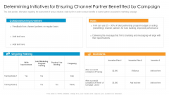 Partner Advertisement Strategy Determining Initiatives For Ensuring Channel Partner Benefitted By Campaign Template PDF