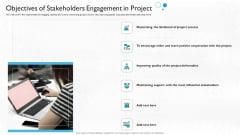 Partner Engagement Planning Procedure Objectives Of Stakeholders Engagement In Project Template PDF