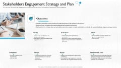 Partner Engagement Planning Procedure Stakeholders Engagement Strategy And Plan Slides PDF