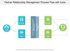 Partner Relationship Management Process Flow With Icons Ppt PowerPoint Presentation Icon Show