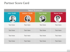 Partner Score Card Ppt PowerPoint Presentation Layouts Portrait