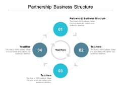 Partnership Business Structure Ppt PowerPoint Presentation Icon Design Ideas Cpb