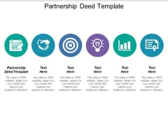 Partnership Deed Template Ppt PowerPoint Presentation Slides Maker Cpb