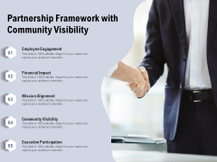 Partnership Framework With Community Visibility Ppt PowerPoint Presentation Icon Display PDF