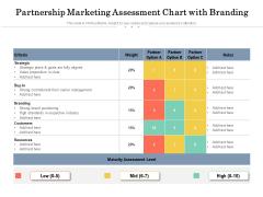 Partnership Marketing Assessment Chart With Branding Ppt PowerPoint Presentation File Slide Portrait PDF