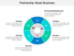 Partnership Mode Business Ppt PowerPoint Presentation Slides Grid Cpb