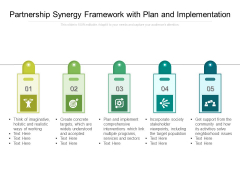 Partnership Synergy Framework With Plan And Implementation Ppt PowerPoint Presentation File Background Image PDF