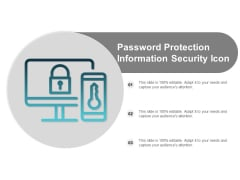 Password Protection Information Security Icon Ppt Powerpoint Presentation Visual Aids Portfolio