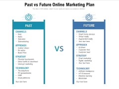 Past Vs Future Online Marketing Plan Ppt PowerPoint Presentation Gallery Background PDF