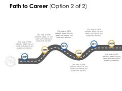 Path To Career 2007 To 2020 Ppt Powerpoint Presentation Gallery Skills