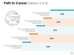 Path To Career 2007 To 2020 Ppt PowerPoint Presentation Layouts Grid