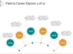 Path To Career Ppt PowerPoint Presentation Icon Clipart