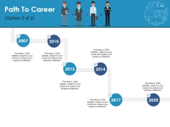 Path To Career Ppt PowerPoint Presentation Ideas Example