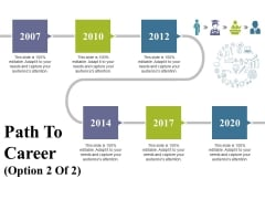 Path To Career Ppt PowerPoint Presentation Infographic Template Display