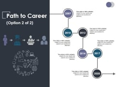 Path To Career Ppt PowerPoint Presentation Show Gridlines