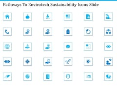 Pathways To Envirotech Sustainability Icons Slide Ppt Slides PDF