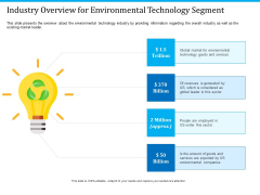 Pathways To Envirotech Sustainability Industry Overview For Environmental Technology Segment Ppt Summary Gridlines PDF