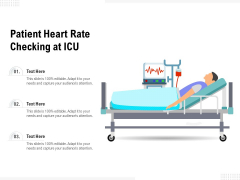 Patient Heart Rate Checking At ICU Ppt PowerPoint Presentation Professional Mockup PDF