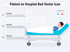 Patient On Hospital Bed Vector Icon Ppt PowerPoint Presentation Pictures Example PDF