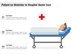 Patient On Stretcher In Hospital Vector Icon Ppt PowerPoint Presentation Slides Aids PDF