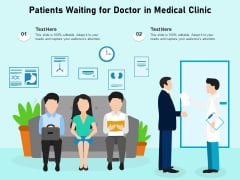 Patients Waiting For Doctor In Medical Clinic Ppt PowerPoint Presentation Gallery Smartart PDF