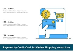 Payment By Credit Card For Online Shopping Vector Icon Ppt PowerPoint Presentation Gallery Example PDF