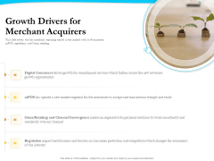 Payment Processor Growth Drivers For Merchant Acquirers Elements PDF