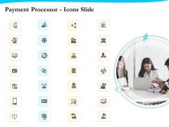 Payment Processor Icons Slide Brochure PDF