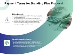 Payment Terms For Branding Plan Proposal Ppt Styles Tips PDF