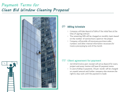 Payment Terms For Clean Bid Window Cleaning Proposal Ppt Infographic Template Infographic Template PDF