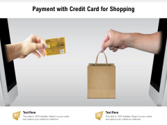 Payment With Credit Card For Shopping Ppt PowerPoint Presentation File Design Templates PDF