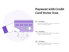 Payment With Credit Card Vector Icon Ppt PowerPoint Presentation Layouts File Formats PDF