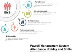 Payroll Management System Attendance Holiday And Shifts Ppt PowerPoint Presentation Pictures Aids