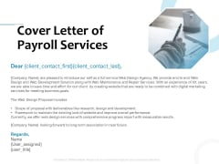 Payroll Outsourcing Service Cover Letter Of Payroll Services Ppt File Example PDF