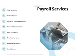 Payroll Outsourcing Service Payroll Services Ppt Infographics Backgrounds PDF