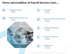 Payroll Outsourcing Service Terms And Condition Of Payroll Services Cont Ppt Outline PDF